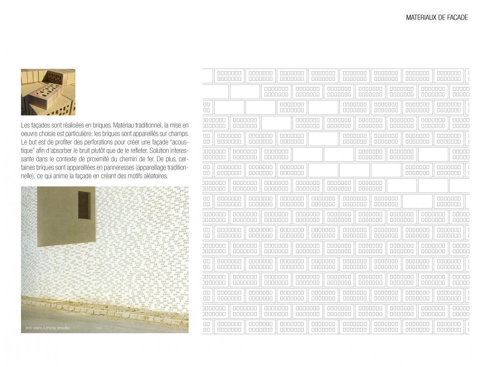 matériaux de façade des logements Terre Neuve