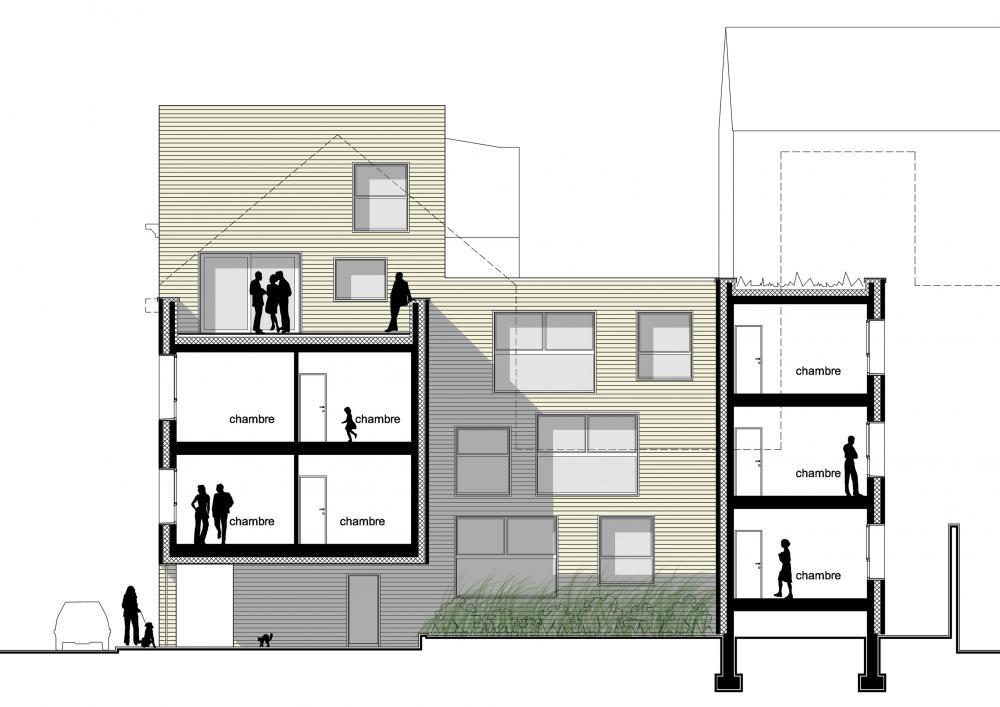 coupe des logements Terre Neuve