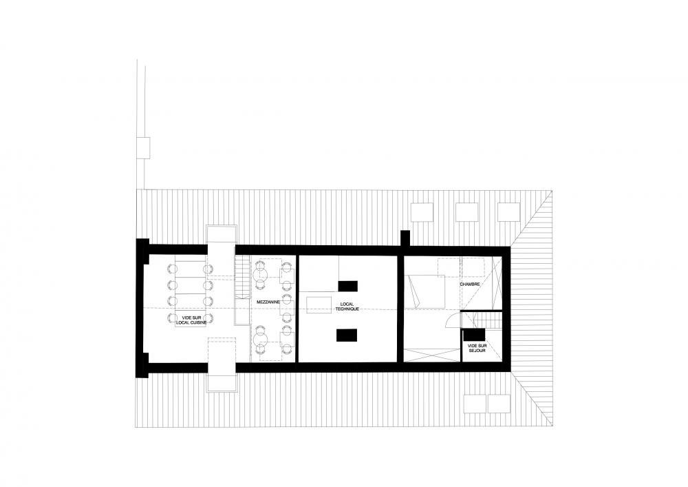 plan du 3ème étage combles