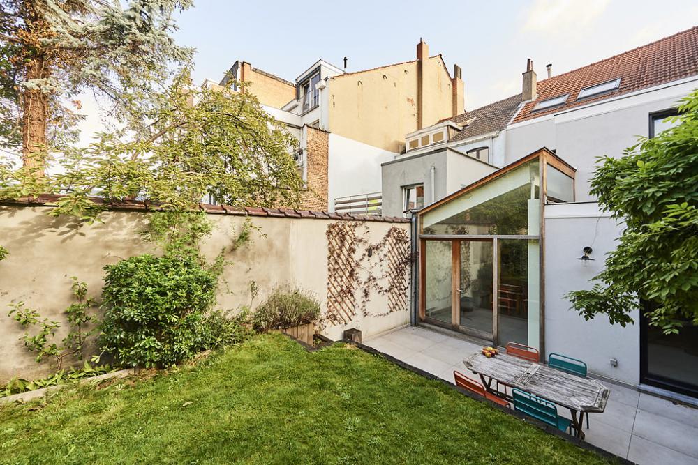 photographie de la façade jardin de la maison Anatole France