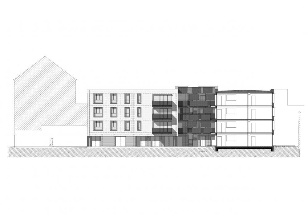 logement bruxelles Flandre eon architecture urbanisme coupe