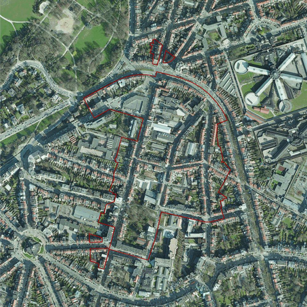 photographie satellitaire du périmètre