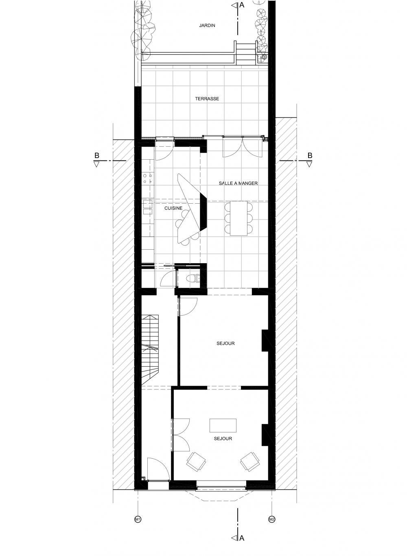 plan du rez-de-chaussée de la maison Anatole France