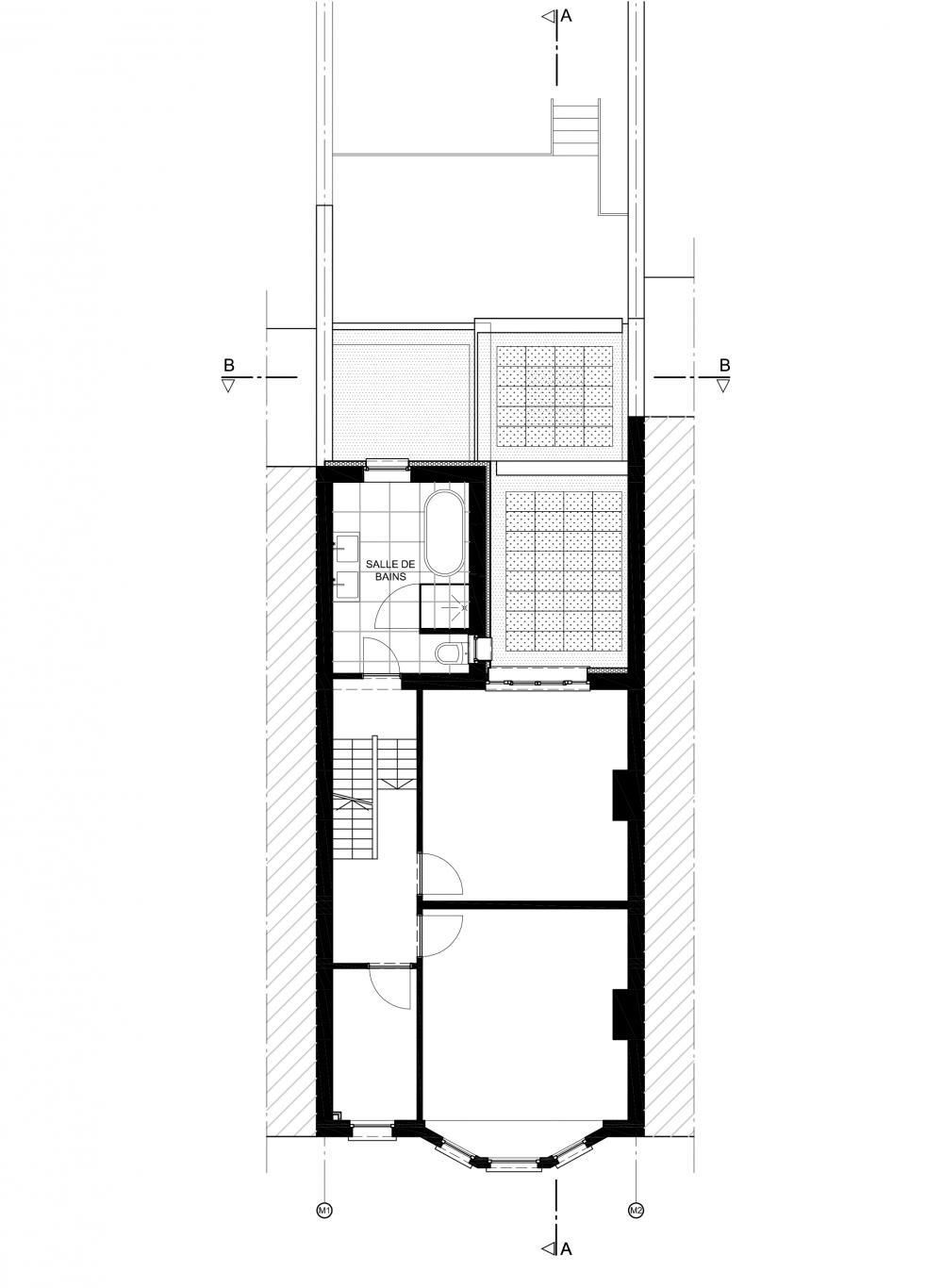 plan du premier étage de la maison Anatole France