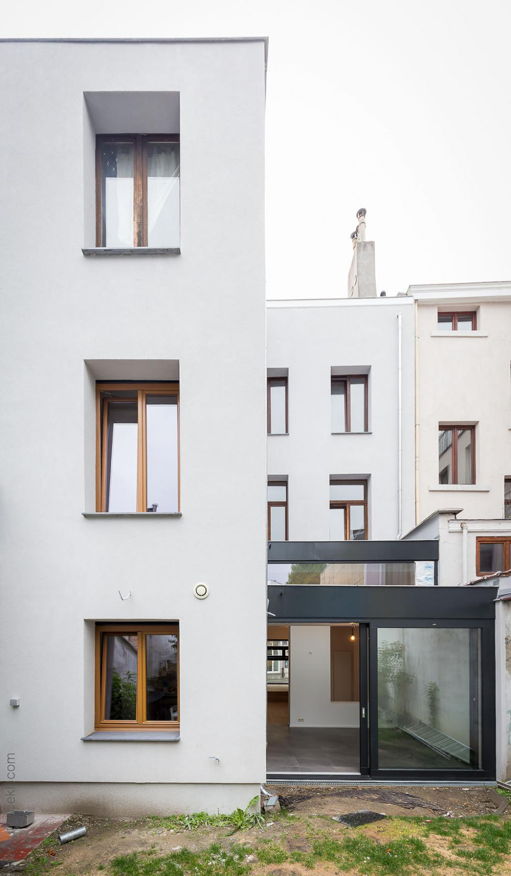 photographie la façade jardin de la maison Dublin