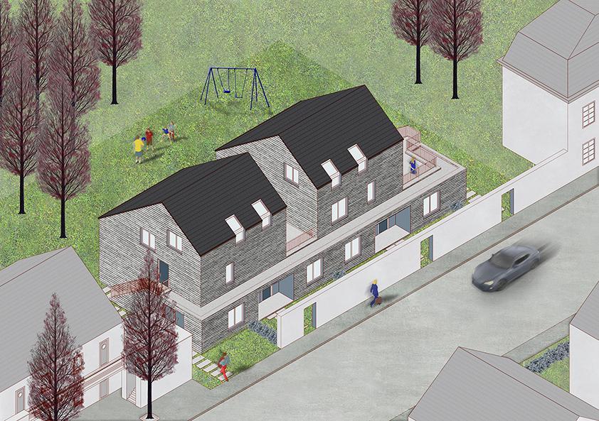 vue aérienne des logements Bonsecours