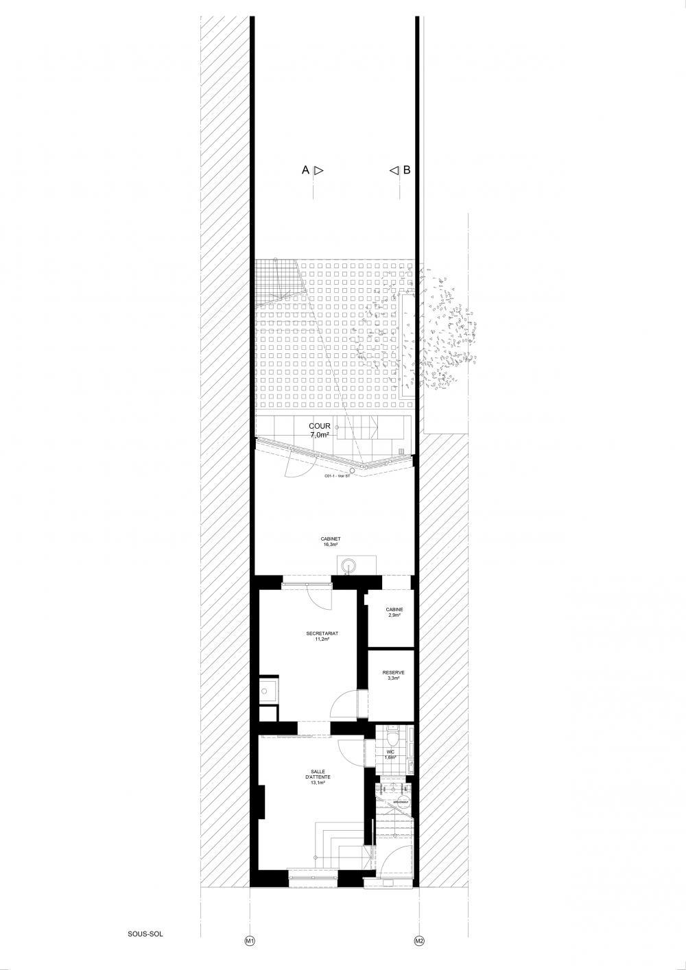 plan du rez-de-chaussée maison hippodrome