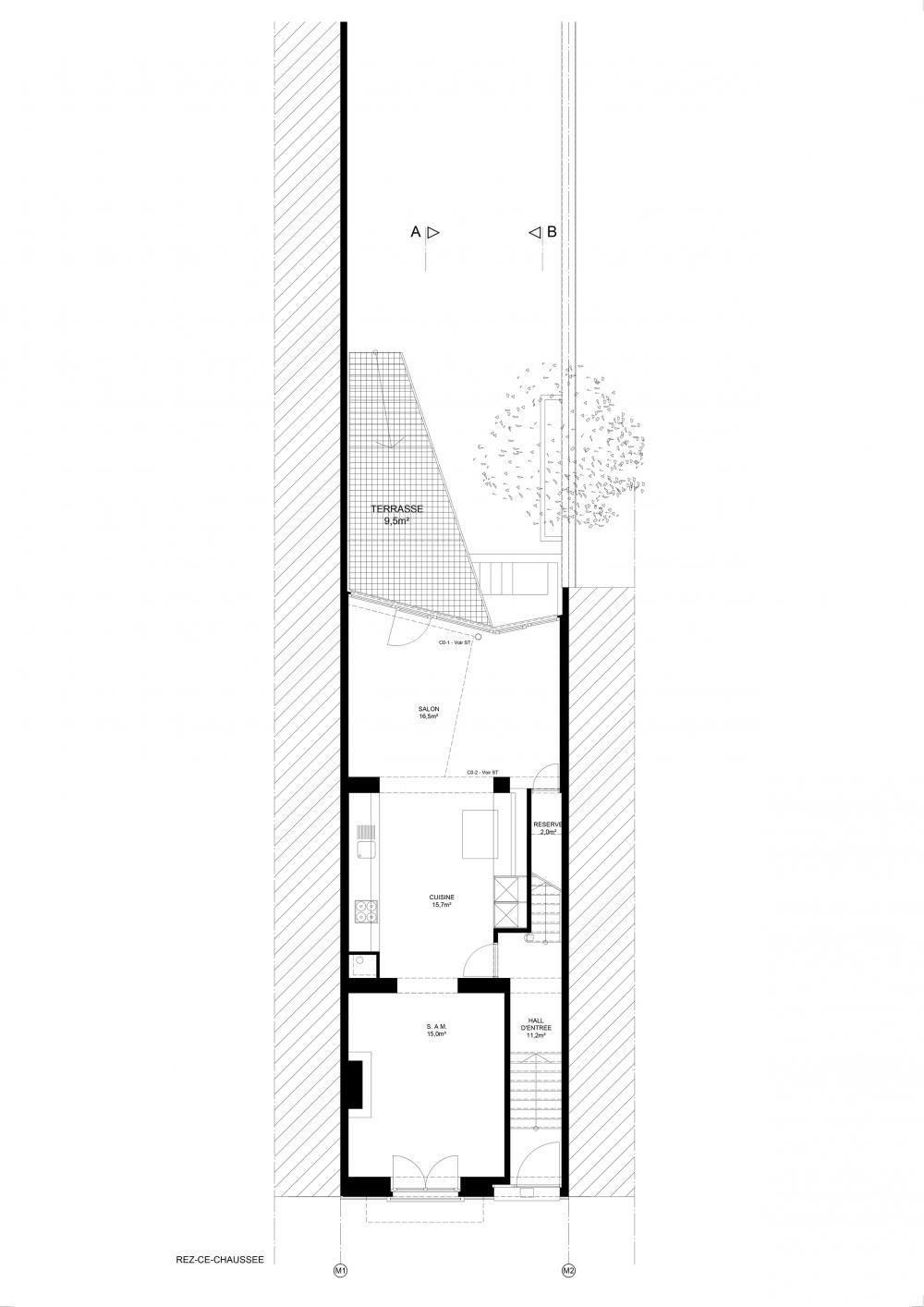 plan du premier étage maison hippodrome