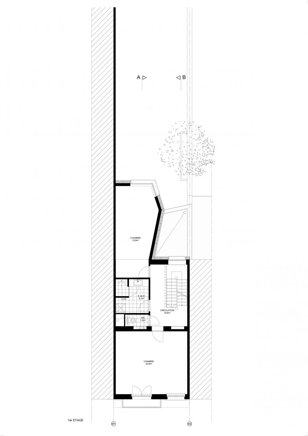 plan du deuxième étage maison hippodrome