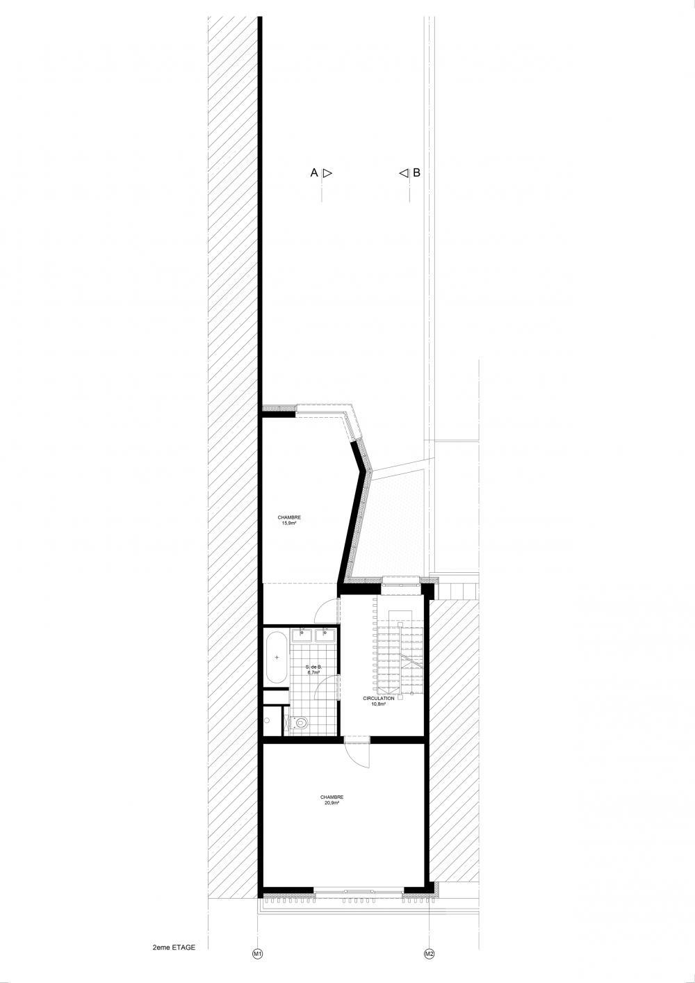 plan du troisième étage maison hippodrome