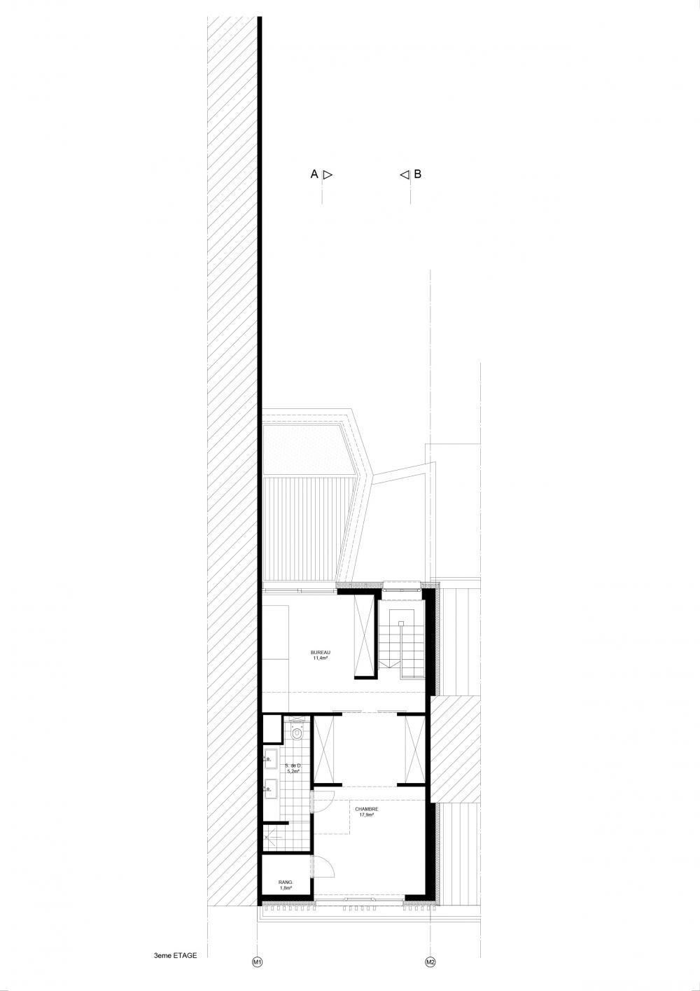 plan des combles maison hippodrome