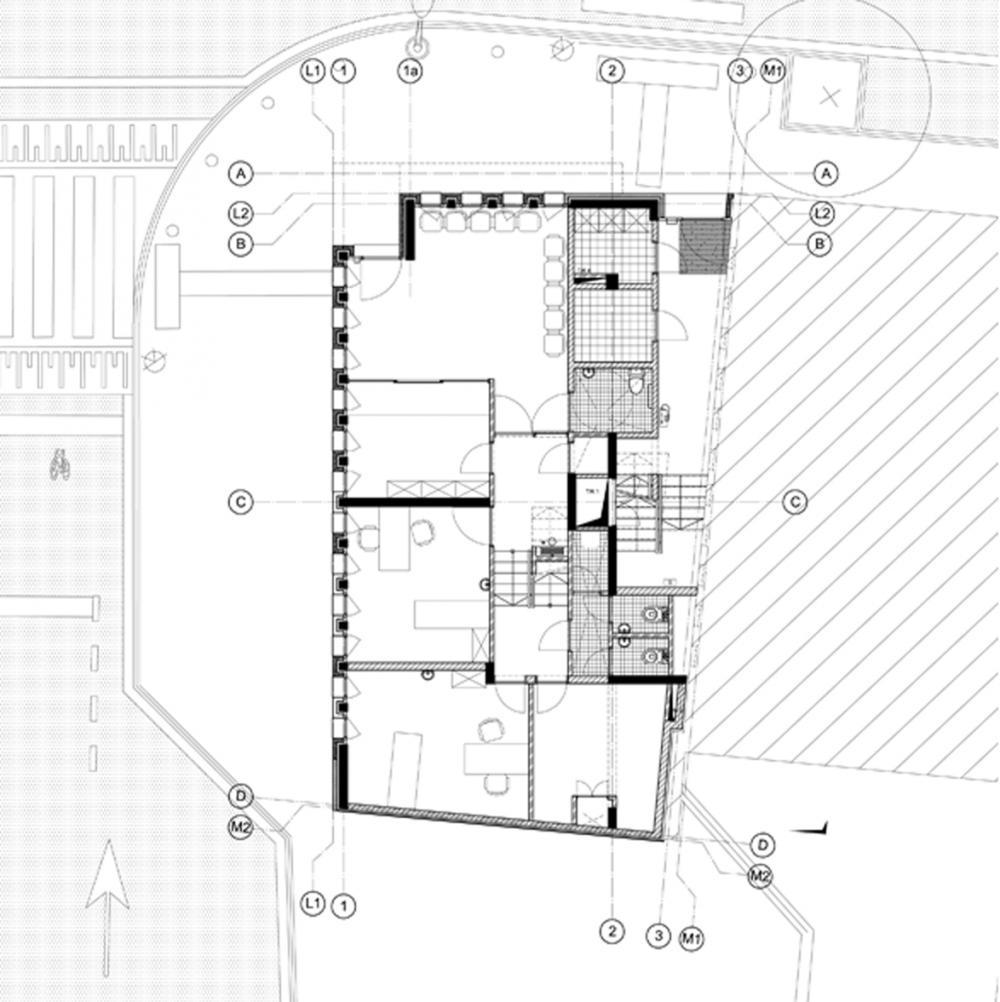 plan du rez-de-chaussée des logements Jérusalem
