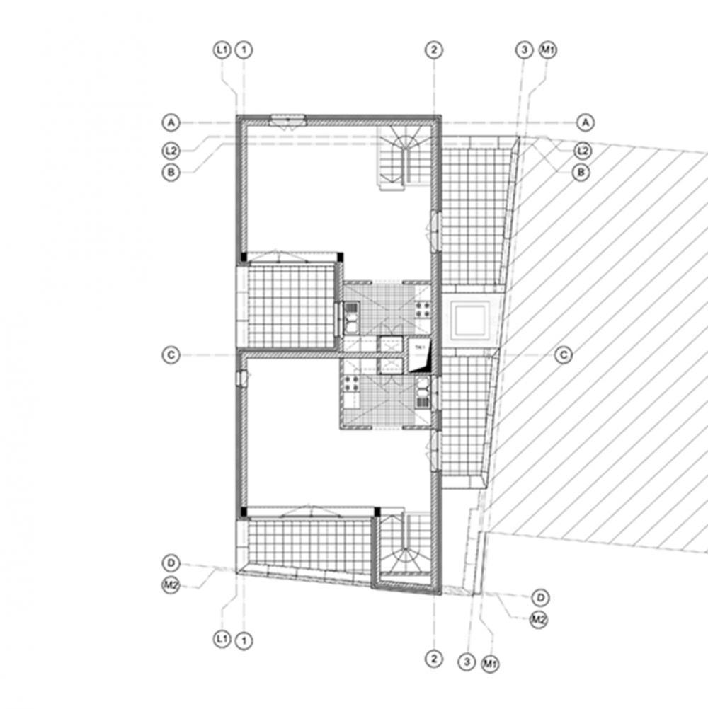 plan du troisième étage des logements Jérusalem