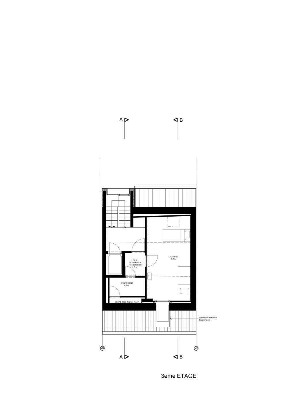 plan du 3ème étage