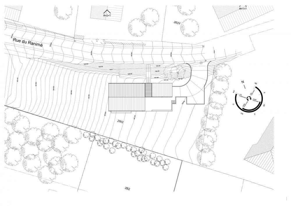 plan d'implantation de la maison Ranimé