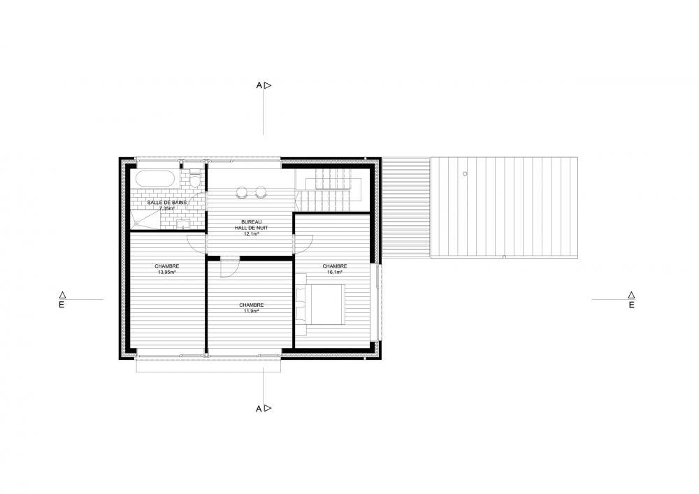 plan du premier étage de la maison Ranimé