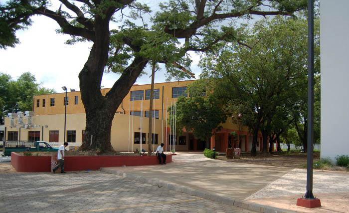 photographie de l'école nationale de tourisme et d'hotellerie depuis la rue