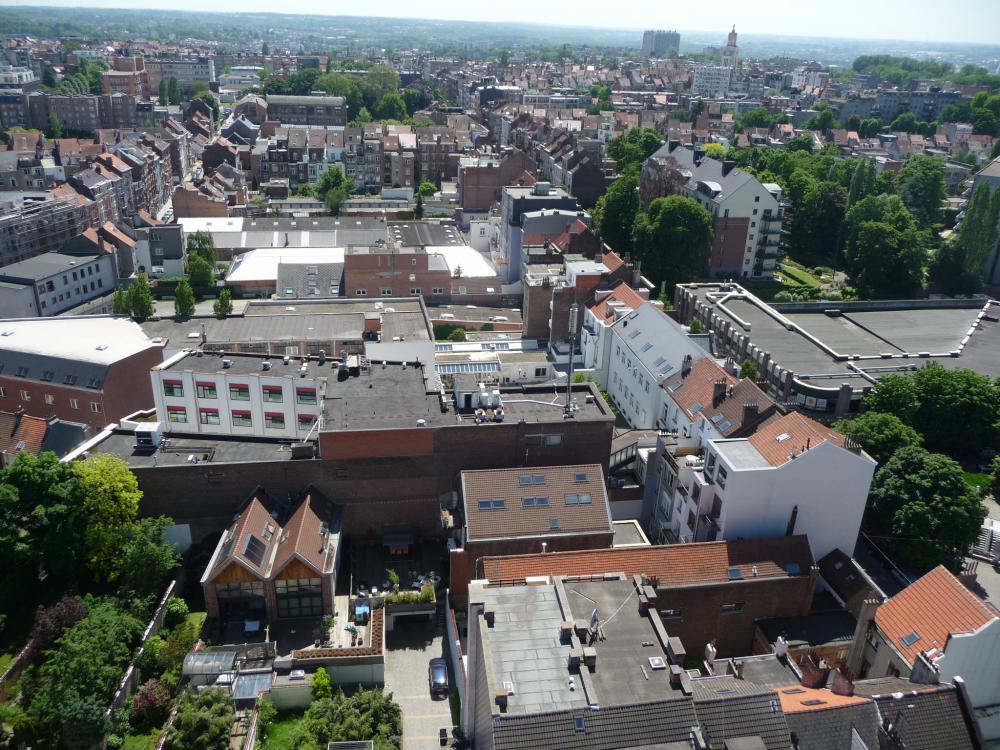 photographie aérienne du périmètre