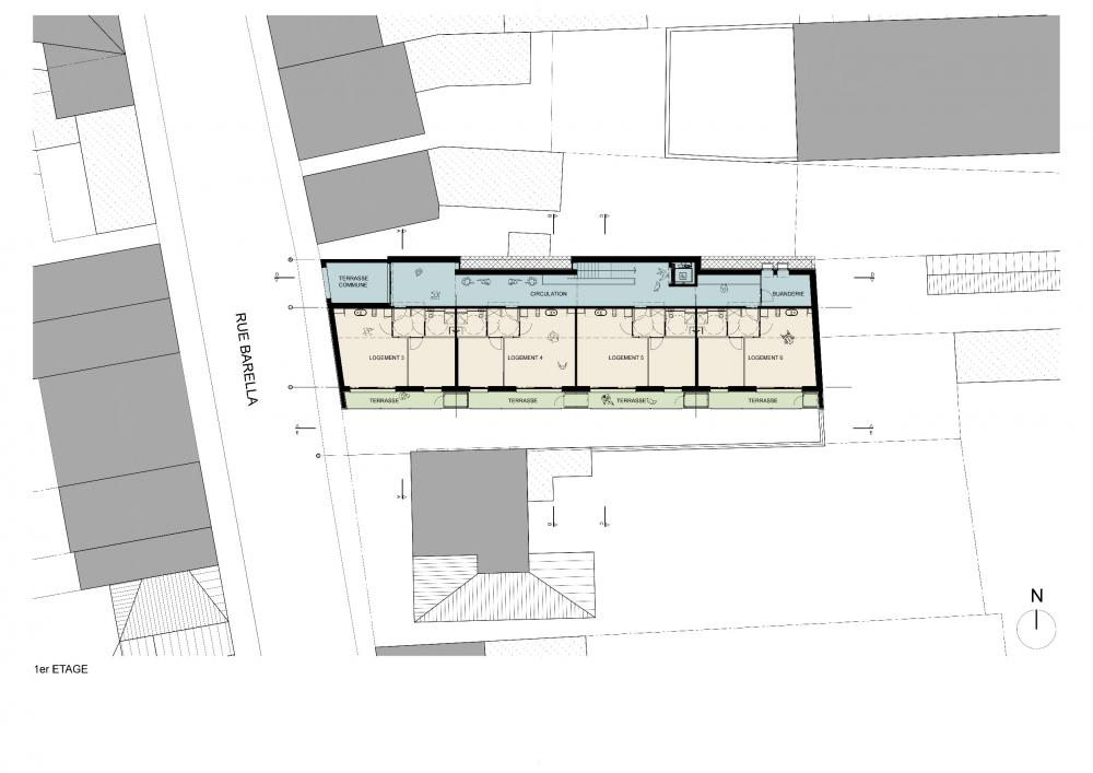 plan du 1er étage avec fonctions
