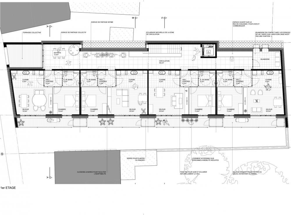 plan du 1er étage détaillé