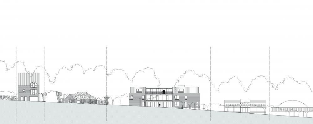 plan de la façade ouest côté ure