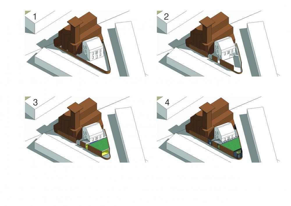 vues axonométriques du phasage des travaux
