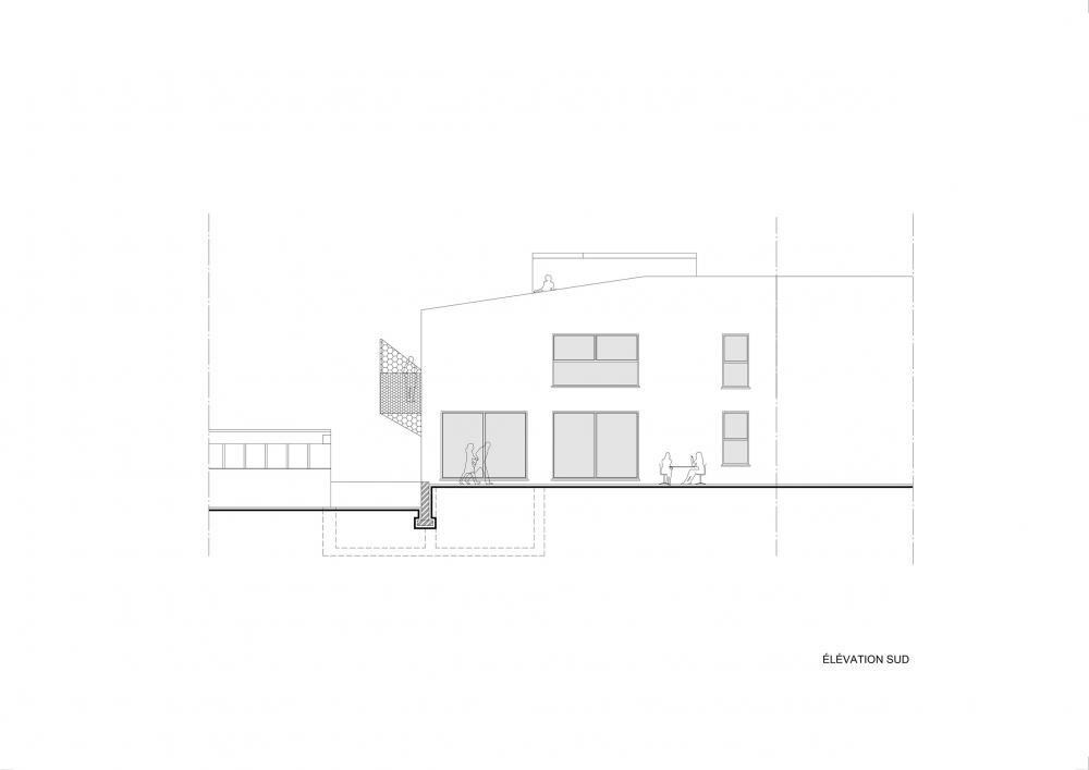 façade jardin projet Cigale