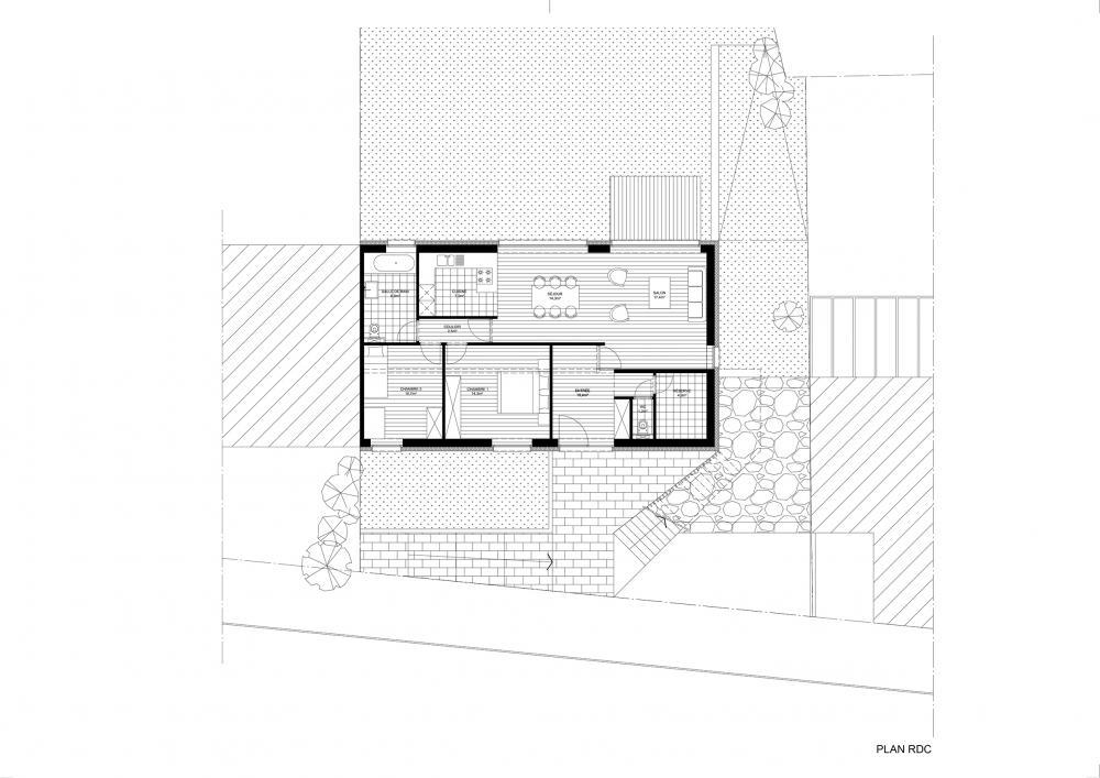 plan rez-de-chaussée projet Cigale