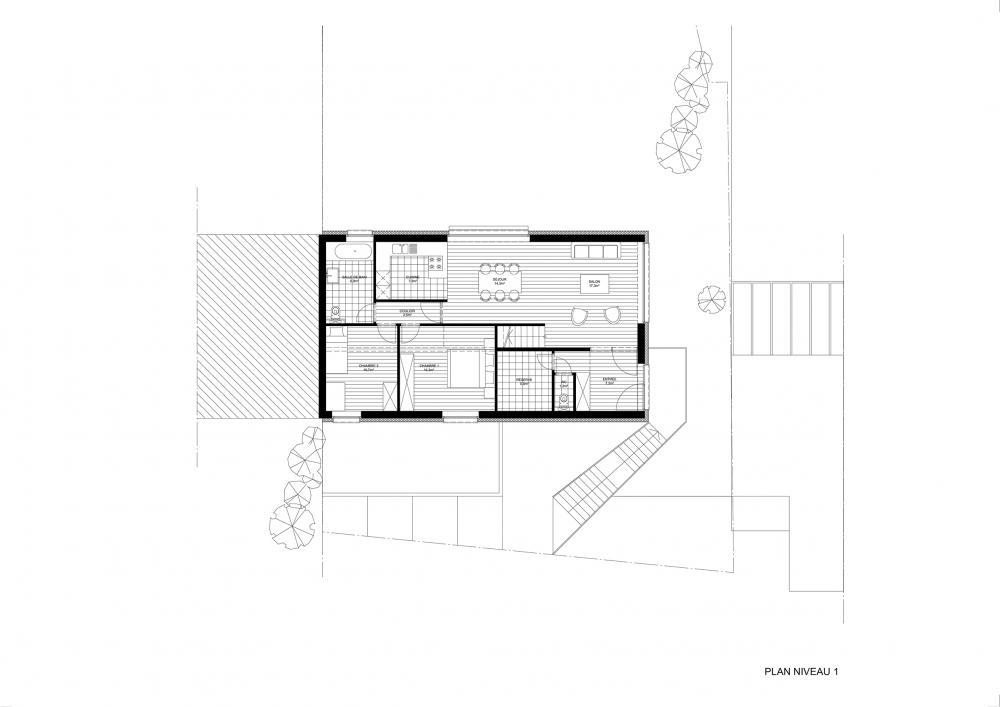 plan 1er étage projet Cigale