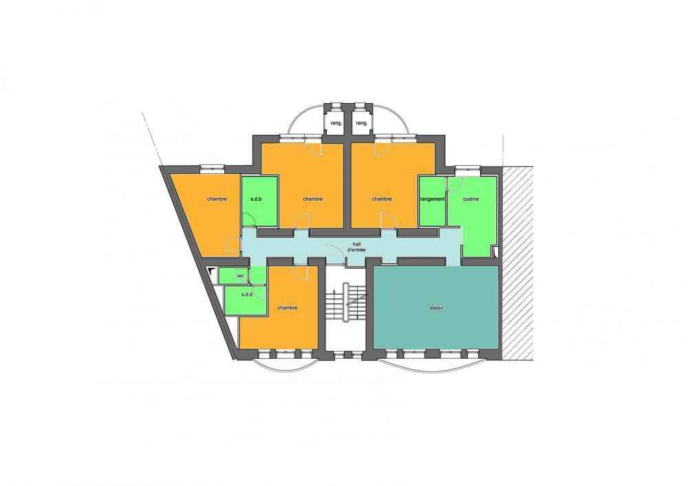plan type des logements Wauters