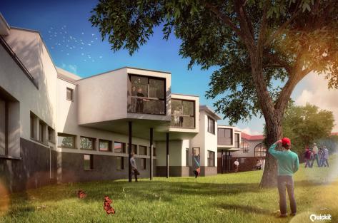 vue de la façade arrière nouvelles chambres
